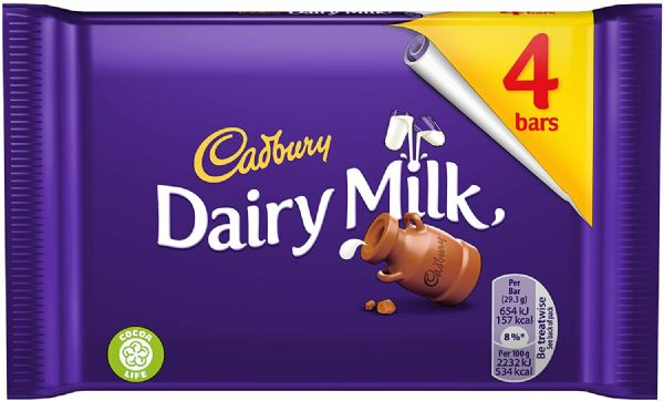 Cadbury Dairy Milk 4 Bars